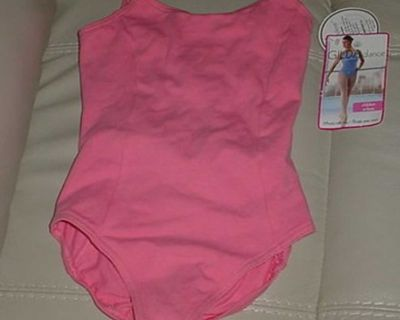 New With Tags Girl's Gilda Dance Coral Lined Tank Leotard Size 8/10. This Dancewear Has A Classic Double Strap, Scoop Neckline &...