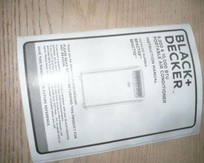 Black and Decker portable Air conditioners  8000-1000 BTU + setup kit