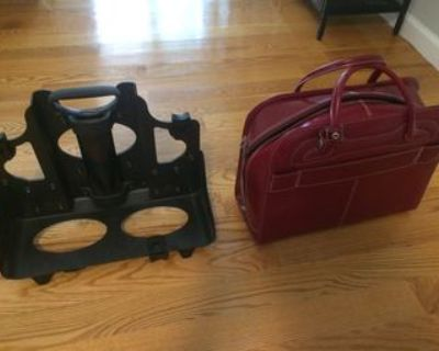 Women's Leather Travel Briefcase