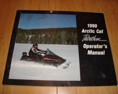 1990 Arctic Cat Panther Owners Manual 440 Fan Snowmobile Operators Guide