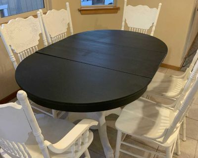 Kitchen table with matching barstools