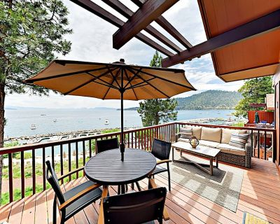 Updated Townhouse with Balconies & Panoramic Lakefront Views - Incline Village