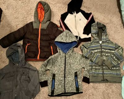 Boys winter coat and jacket lot size 4T