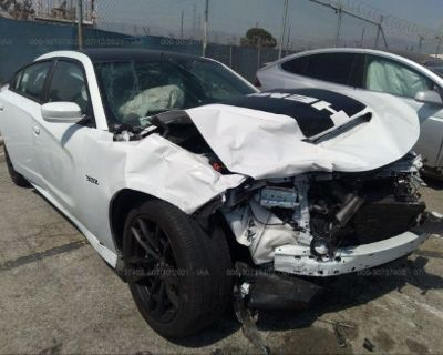 Salvage White 2020 Dodge Charger