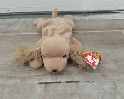 Ty Beanie Baby Spunky The Cocker Spaniel From 1997 Retired With Tags