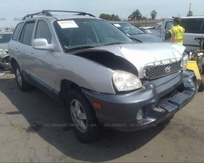 Salvage Silver 2003 Hyundai Santa Fe