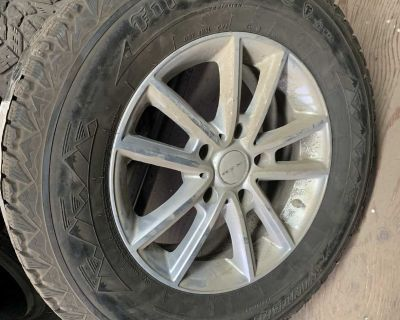 Used Firestone Winter force tires and rims