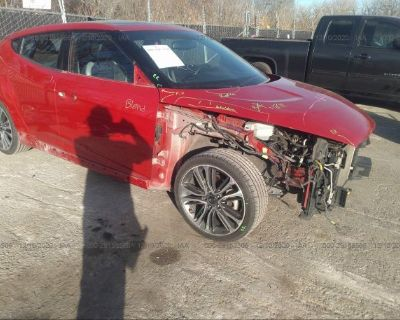 Salvage Red 2016 Hyundai Veloster
