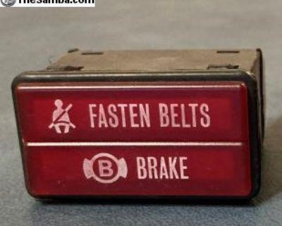 Seat Belt Emergency Brake Light