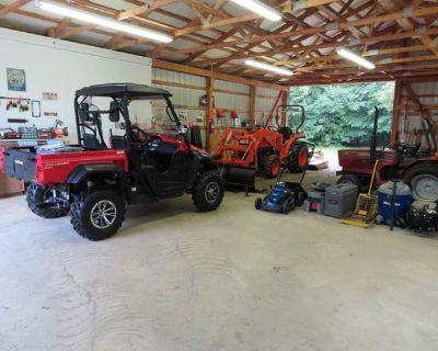 Kabota & Farmall Tractors, Cub Cadet Side By Side, Ferris Zero Turn, Tools, House, Garages FULL!