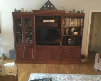 3 Section Lighted Entertainment Center