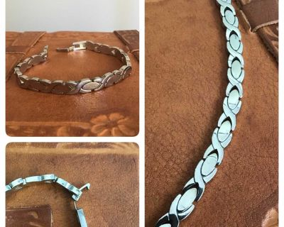 Thick 925 Sterling Silver Bracelet - Beautiful!