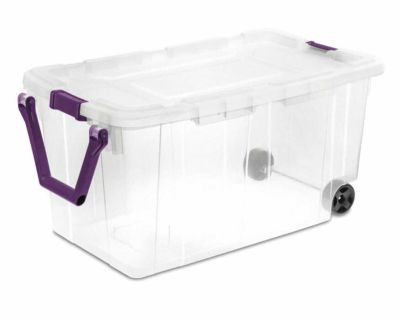 Sterilite 40 gal Storage Tote with Wheels and Handle