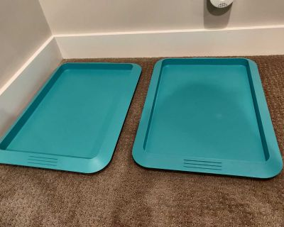 Plastic Food Trays / Serving Tray - Stackable - Set of 2
