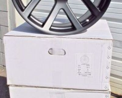 "20"" Dodge Ram 1500 Srt10 Style Set Of 4 New Black Wheels Rims 2223"