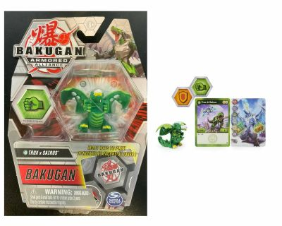 Bakugan, Fused Trox x Sairus, 2-inch Tall Armored Alliance Collectible Action Figure and Trading Card