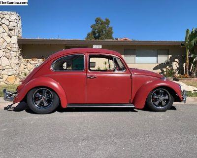1967 VW Beetle Ruby Red Patina California Car
