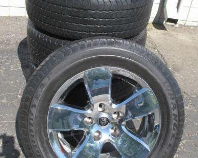 "20"" Dodge Ram 1500 Factory Alloy Chrome Face Wheels Rims Goodyear Tires 2495"