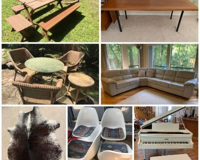 Panther Creek in The Woodlands Online Estate Auction- Baby Grand, Indoor/Outdoor Furniture, & More