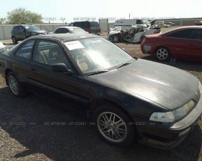 Salvage Black 1991 Acura Integra
