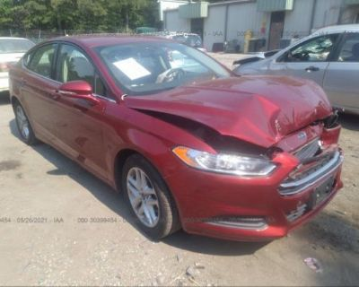 Salvage Red 2014 Ford Fusion