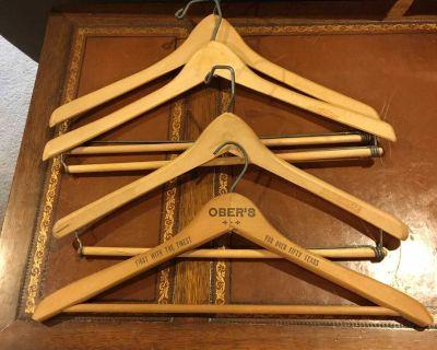 Vintage wooden clothes hangers
