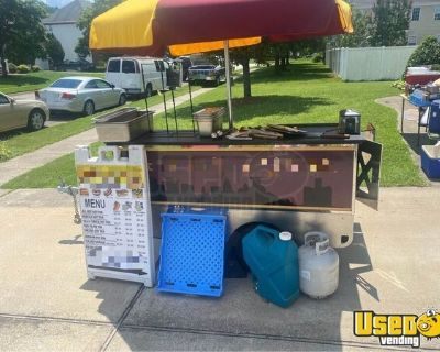 Ready to Go Used Hot Dog Street Food Vending Concession Cart