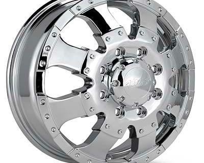 "17""ultra Goliath Dually Chrome Wheels Dodge 2500 3500"