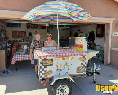 Well-Equipped Big Dawg Hot Dog Food Vending Concession Cart
