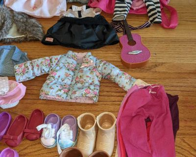 Assorted brands American girl doll/Our Generation clothing