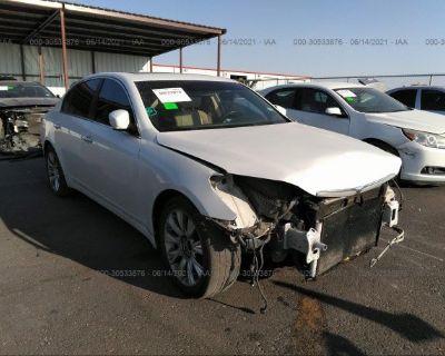 Salvage White 2011 Hyundai Genesis