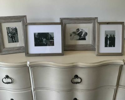 4 Pottery Barn Matted Photo Frames