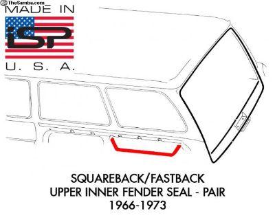 New Upper Inner Fender Seal 1966-73 Pair