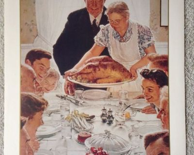 """Norman Rockwell """"Freedom from Want"""" Vintage Print - No. 11956 - 1990"""
