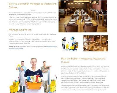 Services de nettoyage de restaurants Montréal