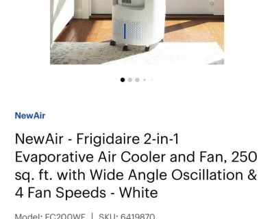 NewAir - Frigidaire 2-in-1 Evaporative Air Cooler and Fan, 250 sq. ft.