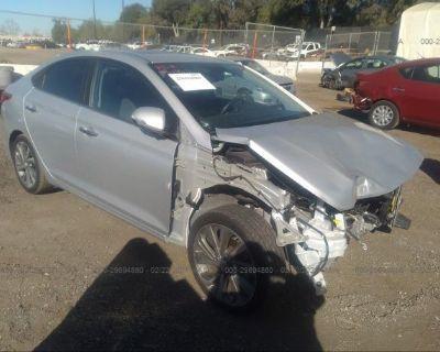 Salvage Silver 2020 Hyundai Accent