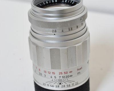Leica 90mm F/2.8 Elmarit Screw Mount Lens, First Version