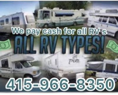WANTED 💛 RV motorhome 5th wheel toyhauler travel trailer pop up camper van