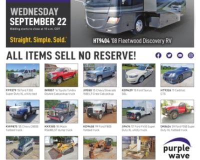 September 22 vehicles and equipment auction