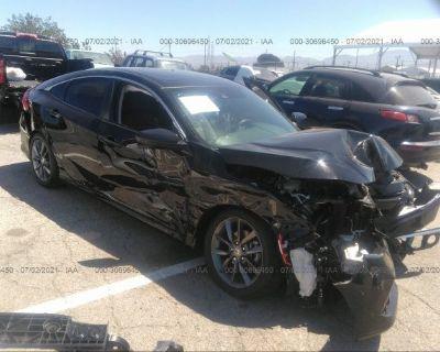 Salvage Black 2020 Honda Civic Sedan