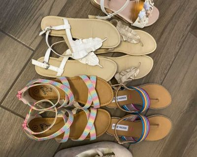 6 pairs of Sandals/Dressy Shoes