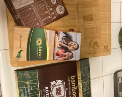 """new Bamboo Cutting Board, 15""""x10""""x0.6"""""""