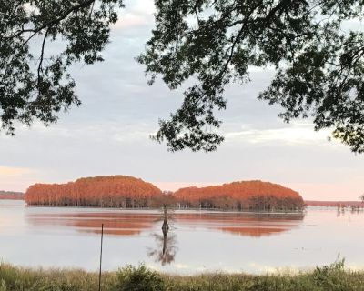 One-of-a-Kind Caddo Lake Retreat with Spectacular Waterfront Views - Karnack