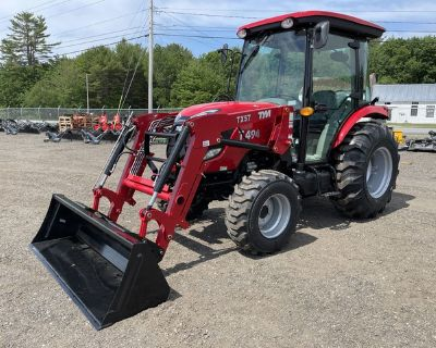 2020 TYM Tractors T494 Tractor W/ Loader, Industrial Tires, And Cab