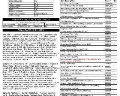 2022 Bennington L Series 23 LSBSD - SWINGBACK