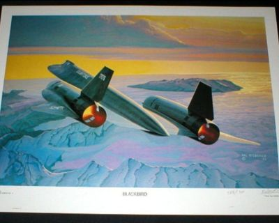 """""""BLACKBIRD"""" US Air Force Plane Art Print - Signed & Numbered by Hal McCormick"""