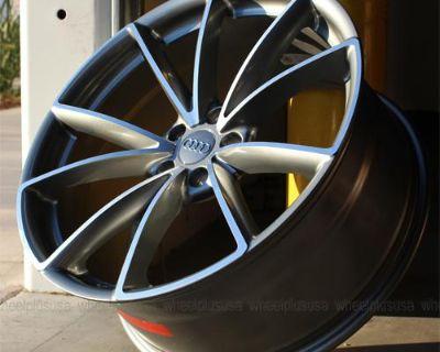 """20"""" 20x9 B8 Rs4 Style For Audi A4 S4 A6 A6 A7 A8 Wheels Rims 4 New Gunmetal"""