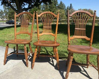 Nichols &Stone 3 wood chairs