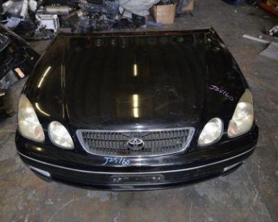 Toyota Aristo Jzs161 Front Nose Cut Hood Bumper Lights Rad Support Lexus Gs300